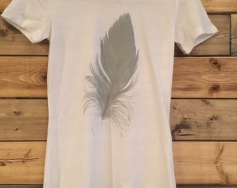 Feather T-Shirt in White / Youth Size