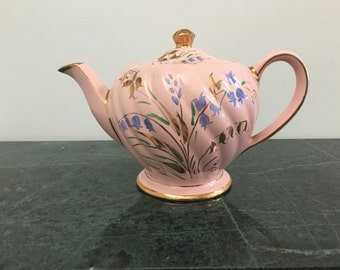 Vintage English Pink with Gold Sadler Teapot