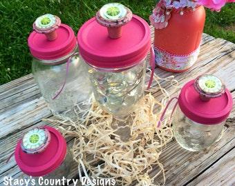 Shabby Chic Decor, Decorations, Candy Jars, Mason Jar Storage, Mason Jar Gifts, Mason Jar Table Set