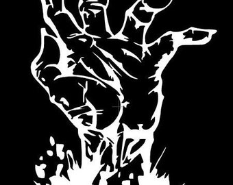 Zombie Hand Decal