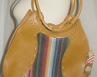 80's boho hippie purse still has tags shoulder purse