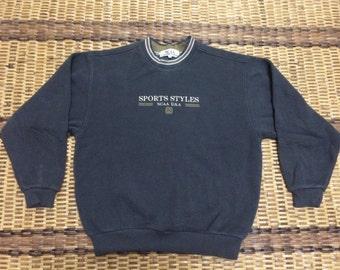 Vintage 90's NCAA Sport Style Classic Design Skate Sweat Shirt Sweater Varsity Jacket Size M #A568