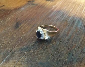 Vintage 14k Sapphire Ring Sz. 7