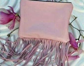 Colored Fringe Statement Clutch