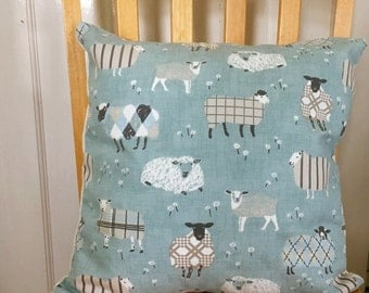 Sheep print cushion