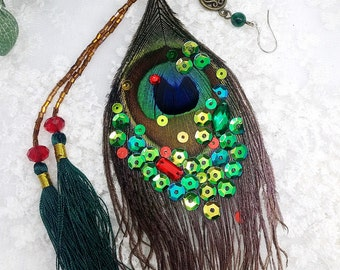 only one, feather earrings