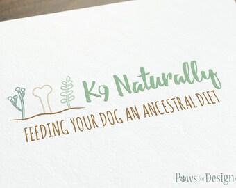 Premade Pet Health Logo - pet blogger pet food store pet grocer pet bakery pet natural nutrition customizable logo pet treats dog treats