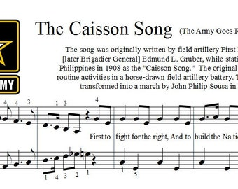 The Caisson Song