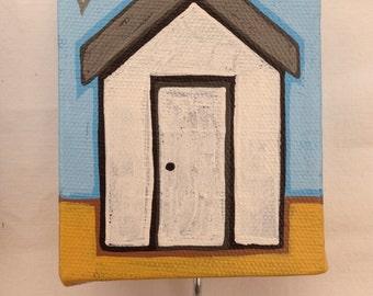 Individual beach hut keyhook canvas