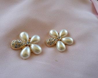 2 piece flower rhinestone