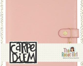 "Simple Stories Carpe Diem Planner ""The Reset Girl"" Edition - Gold Hardware - Ballerina Pink"