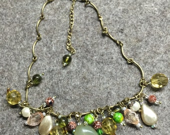 Necklace ' Tuscany olive groves '-40cm