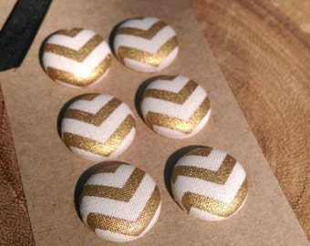 Gold  Chevron Magnets