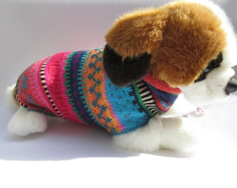 Colorful dog sweater XS