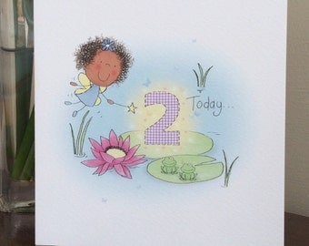 Age two birthday card