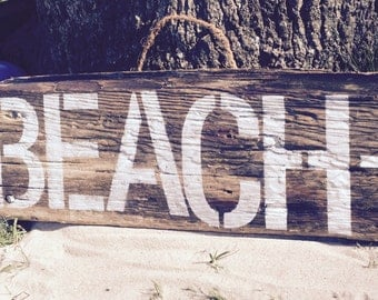 Big BEACH Wall Sign