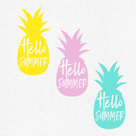 Hello Summer Pineapple Svg Beach Svg Svg Saying By