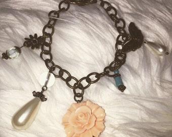 Peach Flower Bracelet