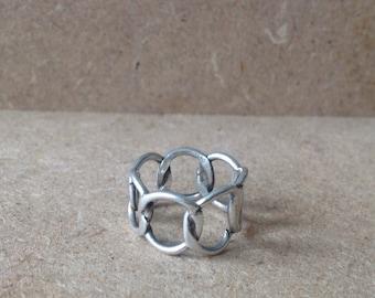Handmade Danish Sterling Silver Loops Ring
