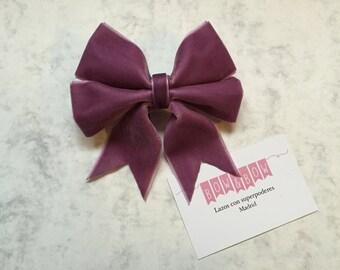 Bow L- Velvet Lilac (hair accessories)