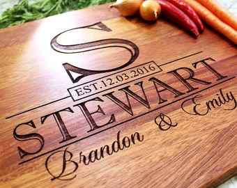 Personalized Cutting Board - Engraved Cutting Board, Custom Cutting Board, Wedding Gift, Housewarming Gift, Anniversary Gift W-015 GB