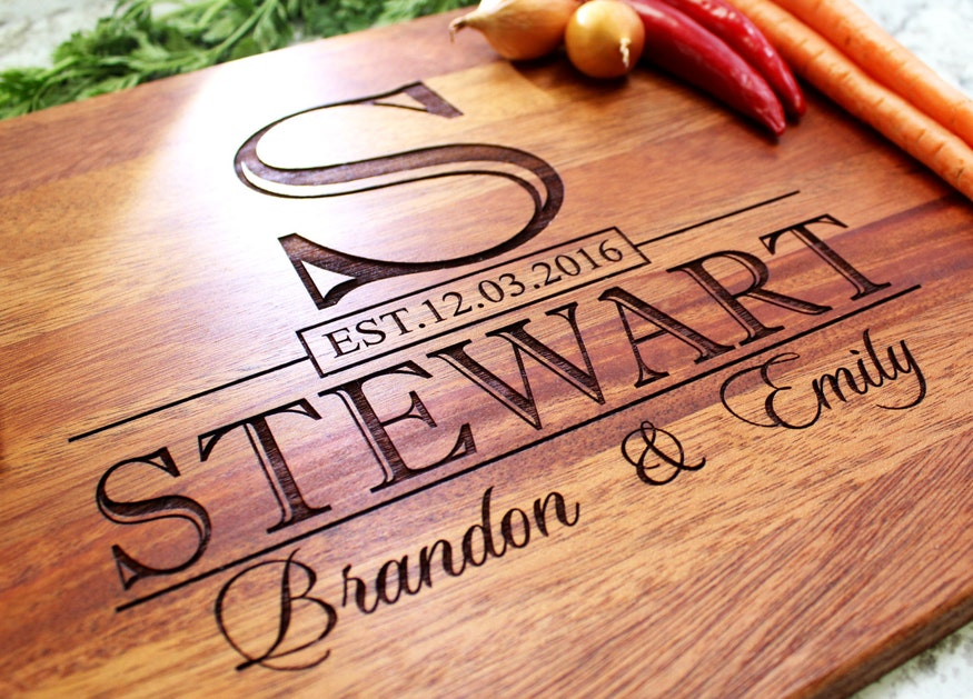 wood custom cutting board