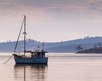 Fishing boat in Tasmania