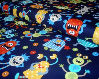 Cotton fabric Monster Mash