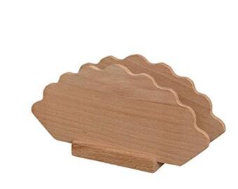 """Napkin rings """"fan"""", decoupage, wood 15x15x8 cm"""