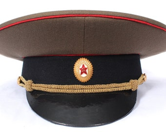 Soviet military hat officer of the Tank Forces and Artillery of USSR Army