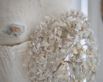 SALE Beautiful antique French wedding bouquet