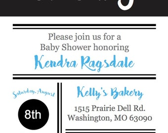 Boy Shower Invite