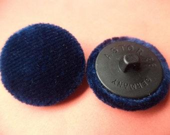 6 fabric buttons dark blue 24 mm (249) buttons button blue fabric