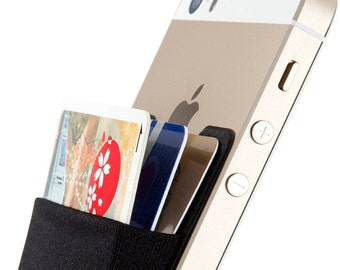 iPhone and Android  card holder. Card Holder, Stick-on Wallet functioning as Wallet Case