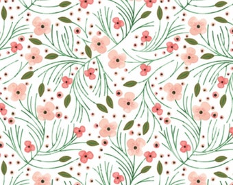 """Floral Crib Sheet, Fitted Crib Sheet, Baby Bedding, Crib Bedding, Crib Sheets, Gender Neutral Crib Sheet, Pink, """"Floral"""" Crib Sheet"""