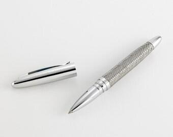 Personalized Pen - Woven Metal