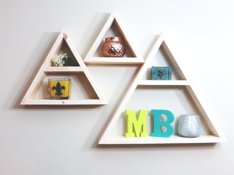 Geometric Shelf Triangle Geometric Shelf Geometric Shelves