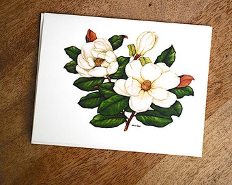 Magnolia Stationery by Widely Acclaimed Artist Louise Estes