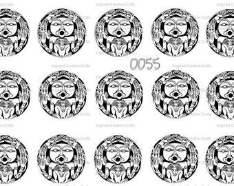 Aztec Aboriginal Bottle Cap Image Sheet