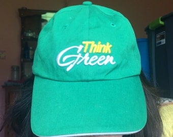 Think Green Environmental Save The Earth Baseball/Trucker Hat