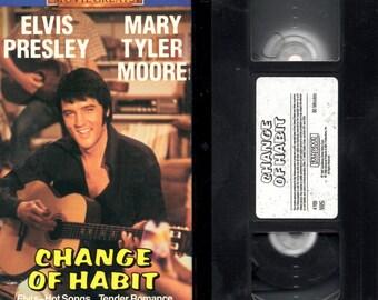 Change Of Habit - VHS - Elvis Presley - Mary Tyler Moore.