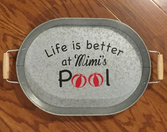 Personalized galvanized tray