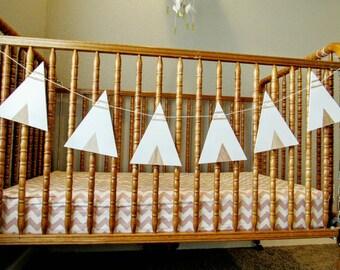 Wood Teepee Bunting Flags, Wood Bunting Flags , Bunting , Bunting Flags , Garland , Flags