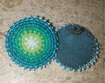 Green-Blue Beaded Earrings