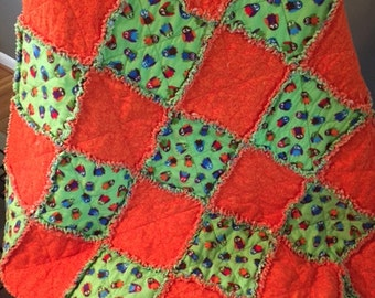Baby/Toddler flannel rag quilt