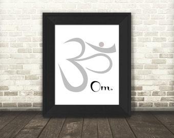 Om Printable Art, Meditation Art, Sanskrit