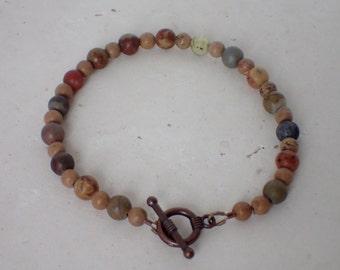 Multi Gemstone Beaded Copper Bracelet