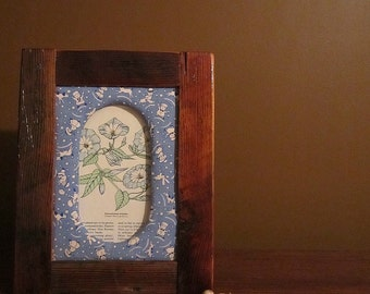 Handcrafted barnwood picture frame