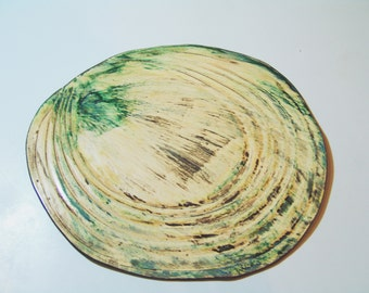 Water Ripple Ceramic Tray, Handmade Serving Tray, Sushi Platter, cheese Serving Platte