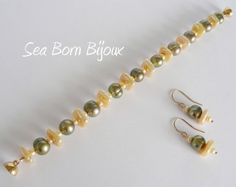 Keshi Freshwater Pearl Bracelet / freshwater bracelet keshi bracelet keshi pearls gift for her summer birthday